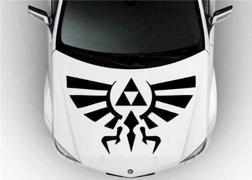Hood Auto Car Vinyl Decal Stickers Zelda - Hylian Crests Badass Wall Art Sticker Decal 7418