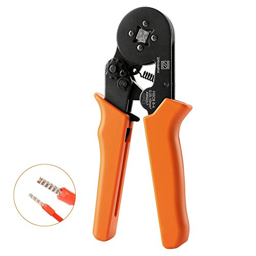 Ratchet Wire Crimping Tool, Self-adjustable Square Ferrule Crimper Crimping Pliers for 0.25-10mm² Wire Terminals (New Packaging) by Z ZANMAX (Image #7)