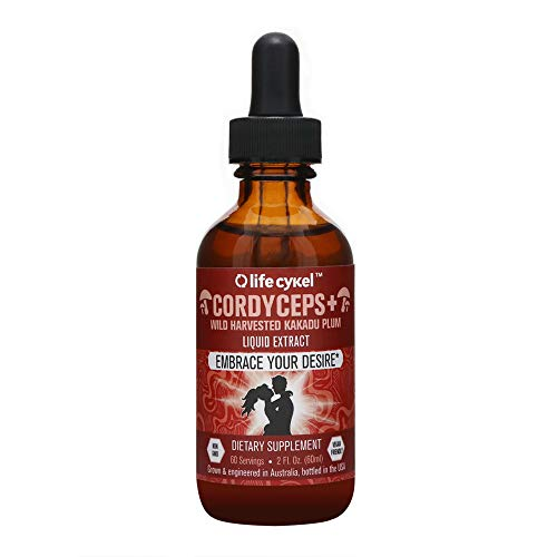 - Life Cykel Cordyceps Mushroom with Australian Wild Harvested Kakadu Plum Liquid Extract - 2 fl oz. (60 Servings) - Make Everyday a Smooth Ride - Energy Support