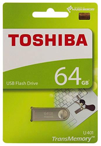 (Toshiba USB2.0 Flash Drive 64GB USB 2.0 Flash Disk TransMemory U401 Metal USB Memory Stick (THN-U401S0640A4))