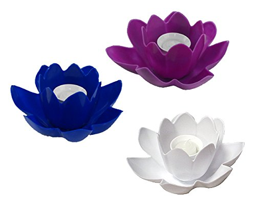 Floating Blossom Swimming Pool Light Candle - Assorted Colors (Blossom Floating Candles)