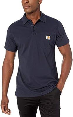 Carhartt Hombre 103569 Manga Corta Camisa Polo - Azul - Large ...