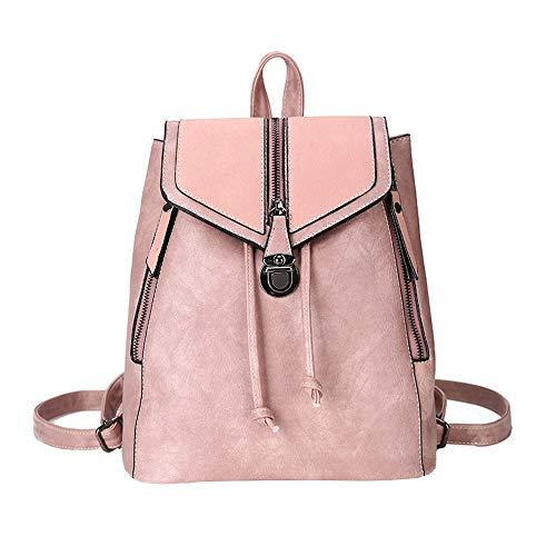 - Clearance Sales!! ZOMUSAR Women Backpack Purse PU Leather Convertible Ladies Rucksack Zipper Pocket Crossbody Shoulder Bag (Pink)