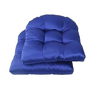LNC - Cojines para silla de comedor o silla de comedor, color rojo, 2 unidades