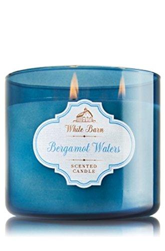 Bath and Body Works Bergamot Waters Candle - Large 3-wick 14.5 oz White Barn Candle Co. - Bergamot Sandalwood -