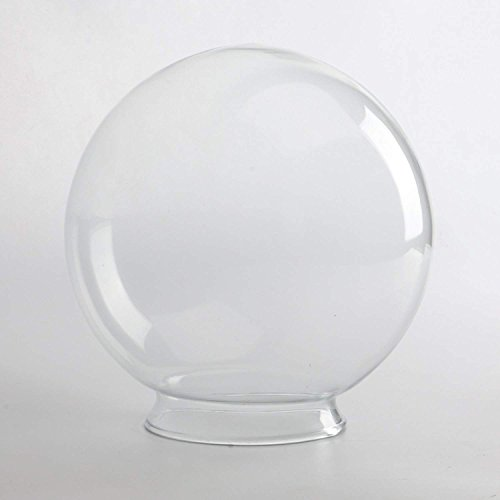 SUNWO Replacement Glass Shades White Glass Globe Any Size (8/10/12/14)
