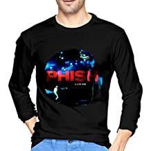 Mans Phish A Live One Red Includes Download Fashionable Music Band Long Sleeves T Shirts Gift