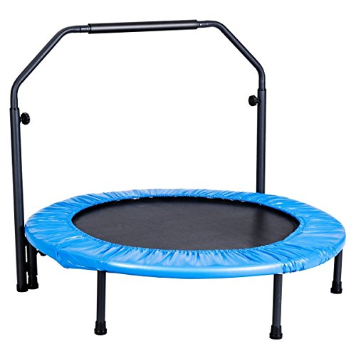 CHOOSEandBUY Mini Rebounder Trampoline with Adjustable Hand Rail Hand Rail Outdoor Bouncing Workout Us Exercise X 50 by CHOOSEandBUY