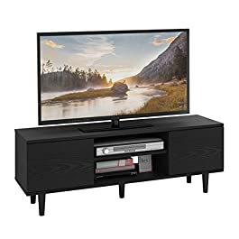 WLIVE Mid-Century Modern TV Stand, Entertainment Media Center for Living Room