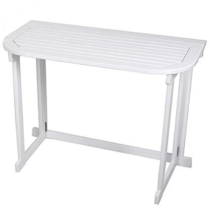 Balkon Klapptisch weiß Balkontisch Gartentisch Hängetisch Campingtisch Tisch