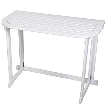 Amazon De Balkon Tisch Manila Weiss Klapptisch Balkontisch