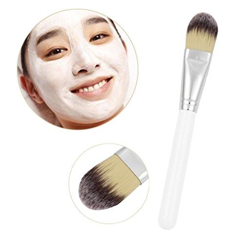 Livoty Wooden Handle Facial Face Mud Mask Mixing Brush Cosmetic Makeup Kit (A)