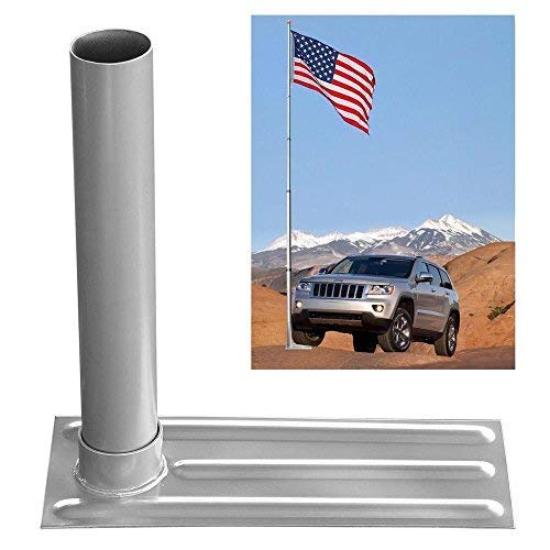 """Alitop 2.4"""" D. Metal Tire Mount Tailgate Wheel Stand Flag Pole Pole Holder 25' 20' FT"""