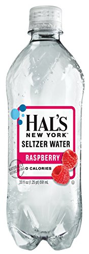 Hal's New York Seltzer Water Raspberry 20 Oz (24 Pack)