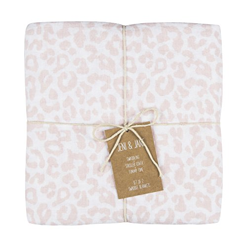 Jenis Print (Jeni and Jane Leopard Baby Swaddle Blankets Pack Of 2,Leopard,One Size)
