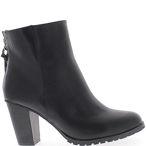 Stivali nero tacco alto donna dimensioni 9 cm in pelle