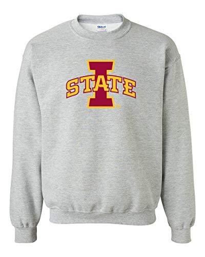 (CornBorn Iowa State Cyclones Fleece Sweatshirt - ISU Logo - Let's Go State - Gray - Medium )