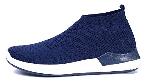 Shoes Dunkel On Sneakers Laufschuhe Slip Sportschuhe Freizeit Blau AgeeMi Bequeme Herren Aw4qxwRd