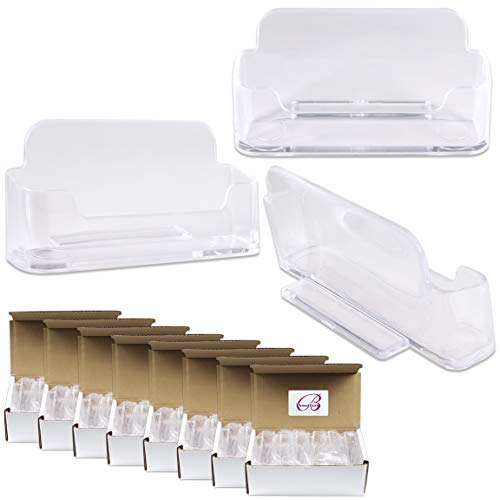 ((100 Pcs) Beauticom Transparent Premium Acrylic Heavy Duty Business Name Card Holder Stand. Suitable For Office Or Store Usage. 100% Brand New & Wholesale)