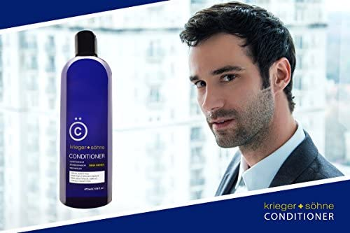 K + S Men's Hair Conditioner – Stylist-Level Hair Care Products for Men - Infused with Peppermint Oil for All hair types (16 oz Bottle)