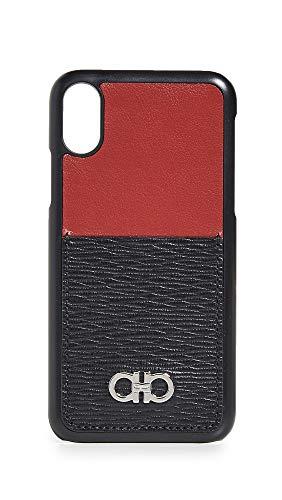 Salvatore Ferragamo Revival Gancini iPhone X Case, Black/Red, One Size