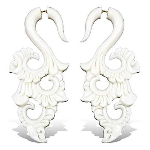Horn Plugs Gauge Bone Earring - 7