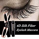 Ginkago 4D Silk Fiber Eyelash Mascara Extension Makeup Black Waterproof Kit Eye Lashes with Bag