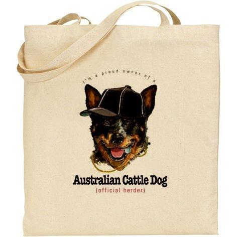 AB–umoristico Australian Cattle Dog cotone Borsa
