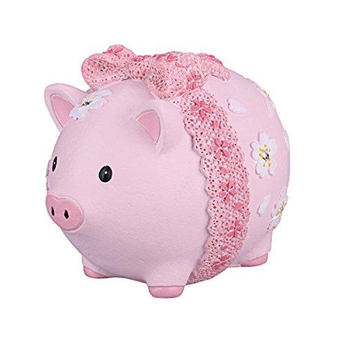 ElecNova Cute Pink Pig Piggy Bank Home Decor Ornament Gift for Girls ()