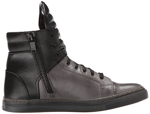 Kenneth Cole New York Heren Double Header Le Fashion Sneaker Grijs / Zwart