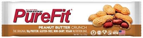 PureFit Peanut Butter Crunch Premium Nutrition Bars, 15 Count | 18G Protein, Performance Enhancement & Energy Bar - Gluten Free, Dairy Free, Low Carb, - Vegan Free Butter Gluten