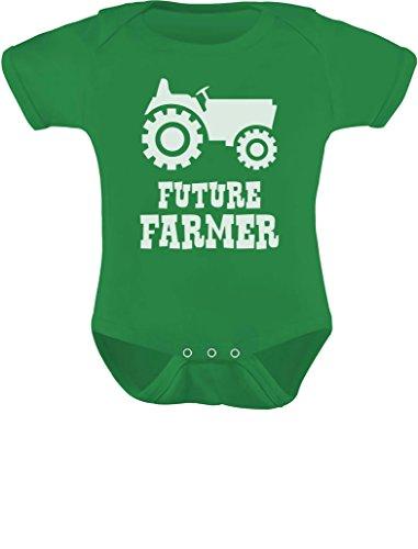 TeeStars - Future Farmer - Cute Baby Grow Vest Farmers Babies Gift Baby Bodysuit 6M Green (Best Gifts For Farmers)
