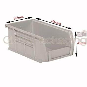 24 x fuerte plástico cajas de almacenamiento apilables piezas Bandejas de picking 106 x 106 x