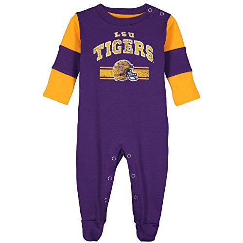 Gen2 LSU Tigers Team Believer Onesie Long Sleeve Sleeper 0-3 Months (Sleeper Tiger)