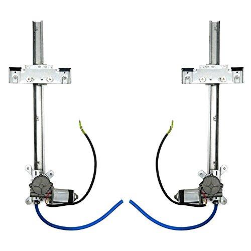 (AutoLoc Power Accessories 9848 2 Door Flat Power Window Kit U-Wire Driver or Passenger)