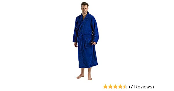 0a7205b5d0 XXL Full  new arrival a7b8e 334a5 Terry Cotton Adult robe Bathrobe at  Amazon Mens Clothing store Terrycloth Bathrobe ...