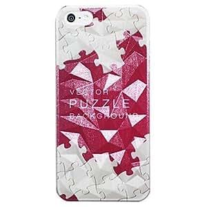 MOFY-Diamond tridimensional del patr—n de dise–o vectorial Fondo del rompecabezas del caso duro para el iPhone 5/5S