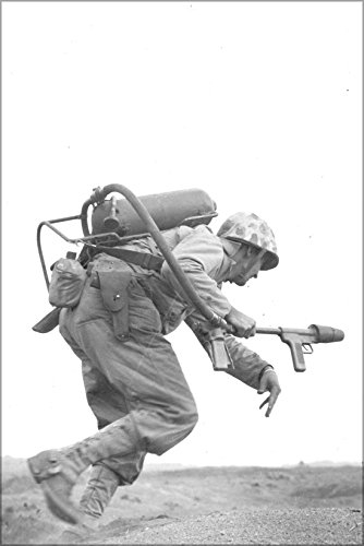 24x36 Poster; A Flamethrower Operator Of Co. E, 2Nd Bn, 9Th Marines, Runs Under Fire On Iwo Jima, February 1945