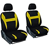 yellow and black car seat covers - Motorup America Auto Seat Cover 6pc Set - Fits Select Vehicles Car Truck Van SUV - Yellow & Black