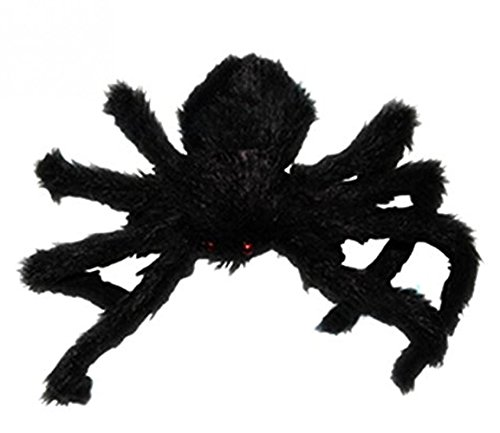 [Large Hairy Poseable Black Spider ~ Halloween Decoration & Prop] (Black Spider Animated Prop)