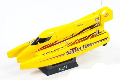 Super Fine Mini F1 Racing Boat RC 1/38 Micro Cyclone Catamaran Radio Control Electric Speed (Speed Cyclone Racing Boat)
