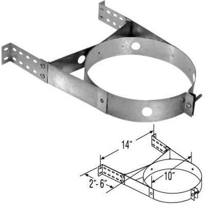 Adjustable Stainless Steel Wall Strap - 8''