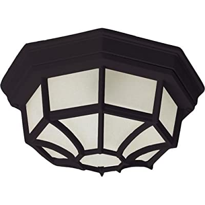 Maxim Lighting Two Light Frosted Glass Outdoor Flush Mount