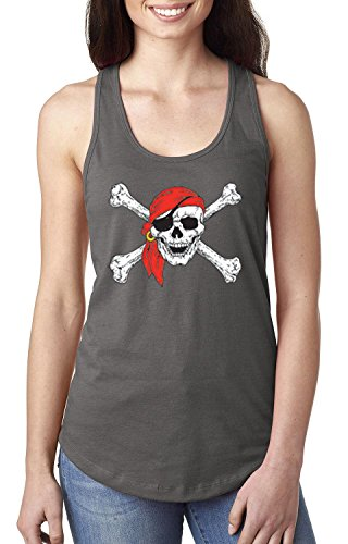 Mom's Favorite Christmas Tank Top Jolly Roger Skull Crossbones Halloween Ugly Sweater Xmas Party Womens Tops Next Level -