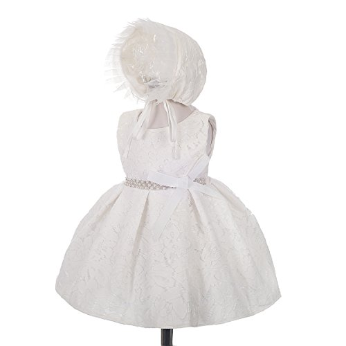 - Dressy Daisy Baby Girls' Beaded Lace Baptism Christening Dresses Outfit Set Wedding Size 3 Months Ivory