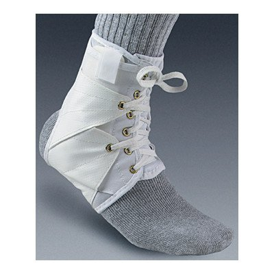 Ankle Support with Vinyl Wings in White Size: Extra Small by Core Products