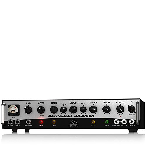 BEHRINGER BX2000H 2,000-Watt Class-D Bass Amplifier with Mosfet Preamp Compressor and Dynamizer Technology Black