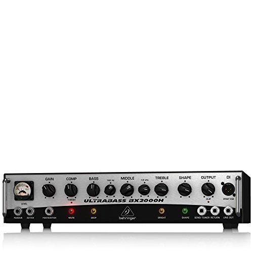 (BEHRINGER BX2000H 2,000-Watt Class-D Bass Amplifier with Mosfet Preamp Compressor and Dynamizer Technology Black)