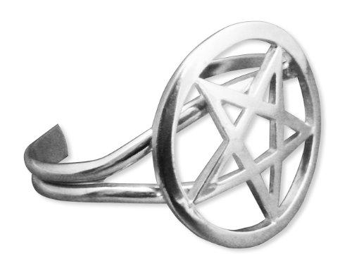 Gothic Large Pentacle Cuff Bracelet Medieval Renaissance Jewelry