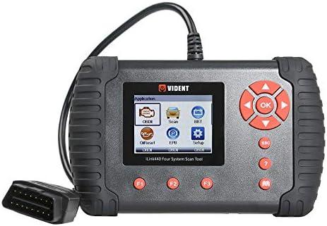 VIDENT iLINK450 Full Service OBDII Scan Tool Scanner Code Reader Support  EPB, Oil Service, ABS/SRS Reset, Battery Configuration, DPF Regeneration,